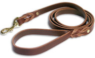 Braided Latigo Leather Lead for Sharpei