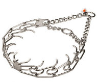 Stainless Steel Shar Pei Collar for Behavior Correction, 3.25mm (1/8 inch) Prong Diameter