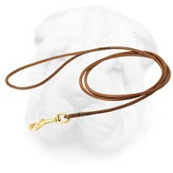 Leather Shar Pei Leash for Special Events