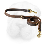 Genuine Leather Multifunctional Shar Pei Leash