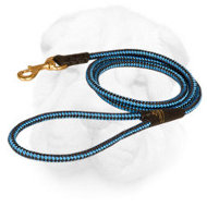 Nylon Cord Shar Pei Leash with Brass Hardware