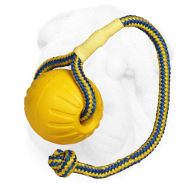 Foam Shar Pei Retrieve Training Ball on Nylon Rope - Medium