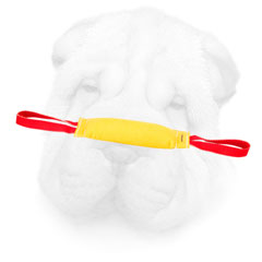 Shar Pei dog Training Bite Tug with Two Handles for French Linen