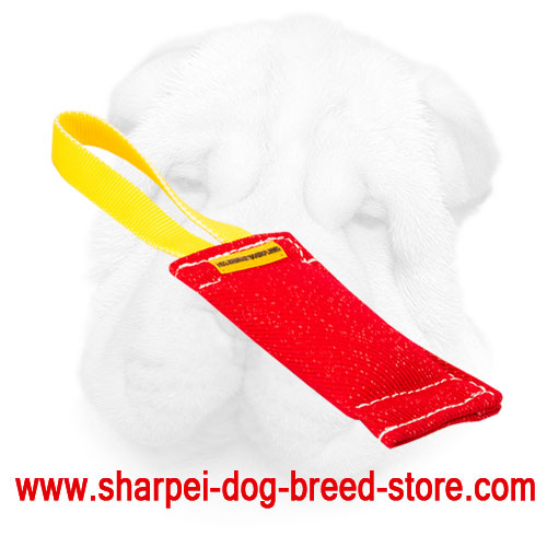 French Linen Shar Pei Bite Tug Equipped with Long Handle