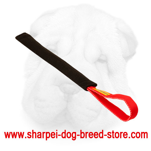 French Linen Shar Pei Bite Tug Equipped with Nylon Handle