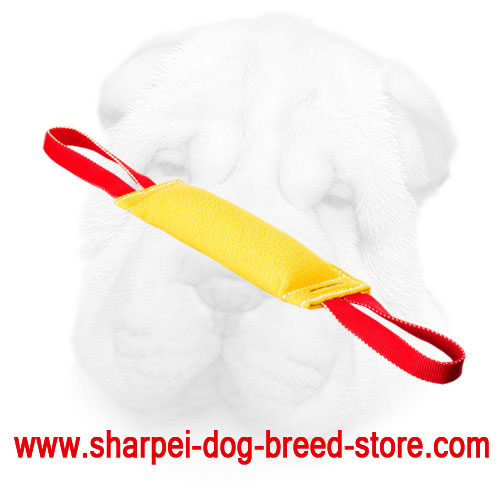 French Linen Shar Pei Bite Tug Equipped with Nylon Handles