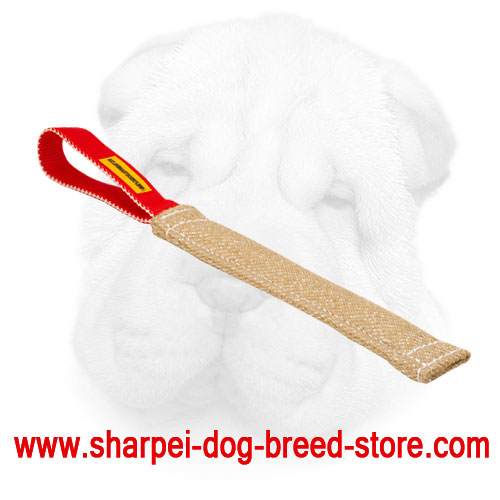 Pocket Size Jute Bite Tug for Shar Pei