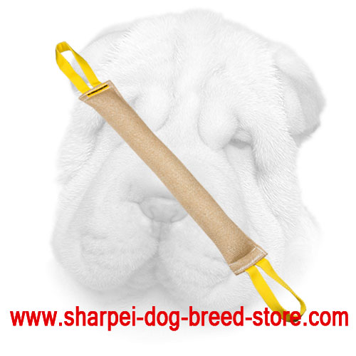 Shar Pei Bite Tug Made of Jute with Safe Stuffing
