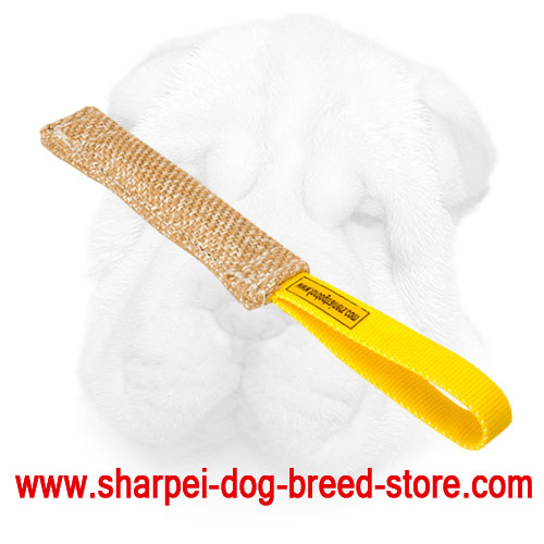 Jute Shar Pei Bite Tug Stuffed with Soft Filling