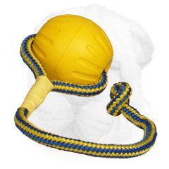 Foam Shar Pei Training Ball Equipped with Nylon Rope