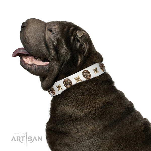 Best quality dog collar handmade for your attractive pet