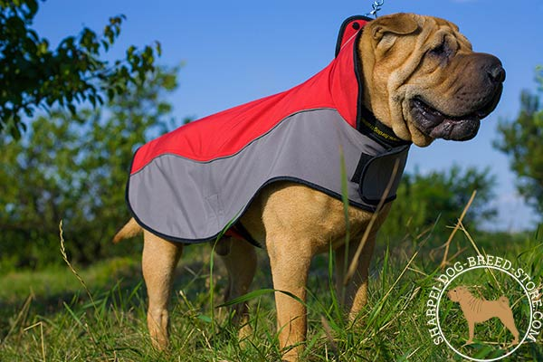 Comfortable nylon Shar Pei coat