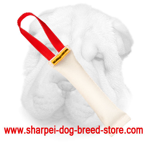Fire Hose Shar Pei Bite Tug with Handle