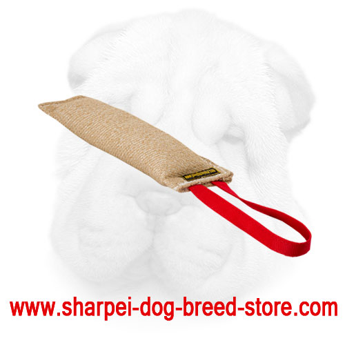 Jute Shar Pei Bite Tug with Soft Stuffing for Comfortable Bite