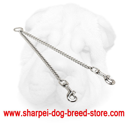 Chrome Plated Shar Pei Chain Coupler