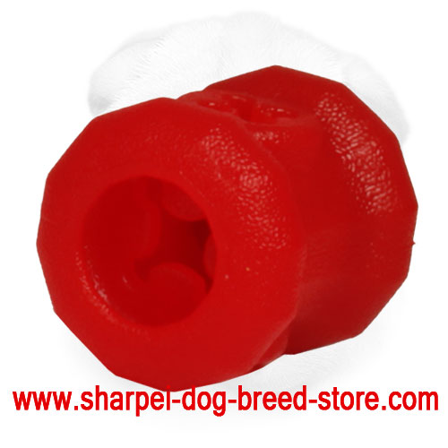 'Rolling Feeder' Rubber Shar Pei Kibble Holder - Small