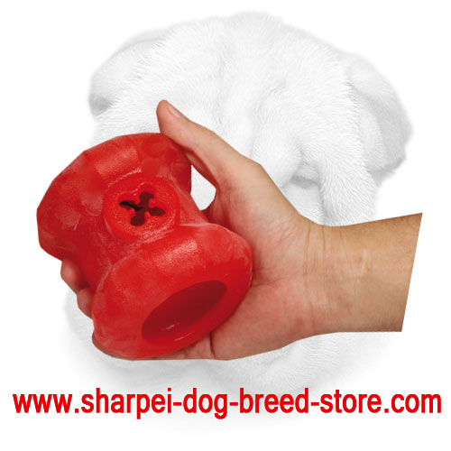 Bright Rubber Shar Pei Kibble Holder - Large