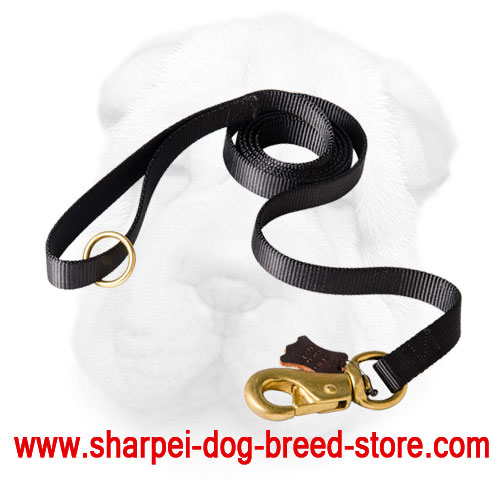 Heavy Duty Nylon Shar Pei Training Leash