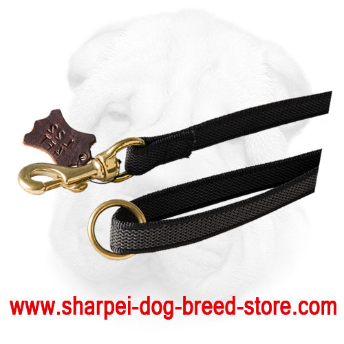 Nylon Leash with Rubber Grip Threads