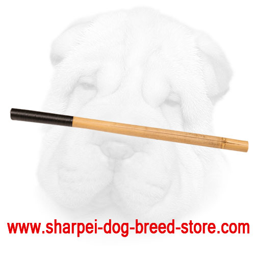 Bamboo Stick for Shar Pei Training Sessions