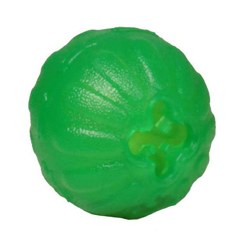 Rubber Shar Pei Treat Dispenser with Ribbed Surface - Small