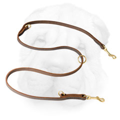 Multifunctional Shar Pei Leash Made of Leather