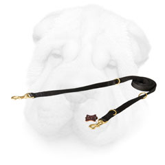 Shar Pei Leash with Brass Hardware