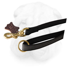 Nylon Shar Pei Leash Equipped with Brass Hardware