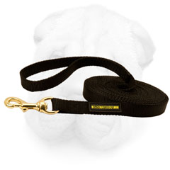 Leash with Brass Snap Hook for Shar Pei