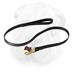 Shar Pei Leash with Brass Snap Hook