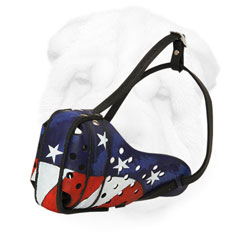 "Shar-Pei Muzzle Hand Painted American Pride"" title="