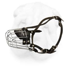 Wire Cage Muzzle for Shar Pei with Adjustable Straps
