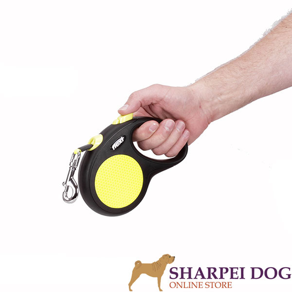 Retractable Leash with Durable Comfortable Chrome Plated Snap