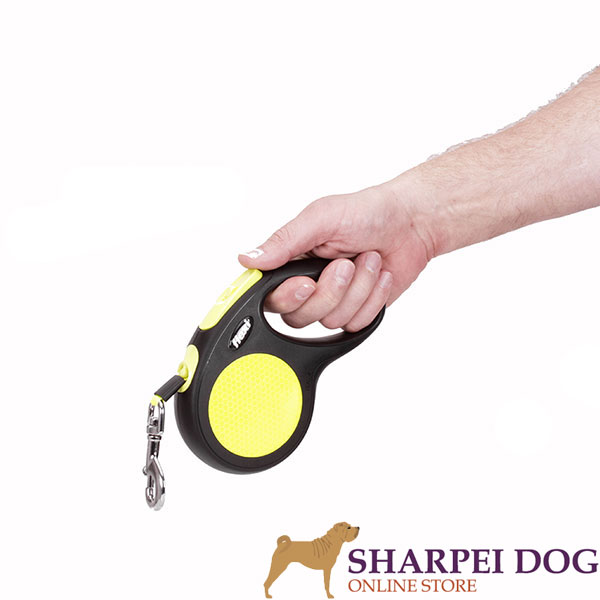 Neon Style Flexi Dog Leash for Walking Medium Canines