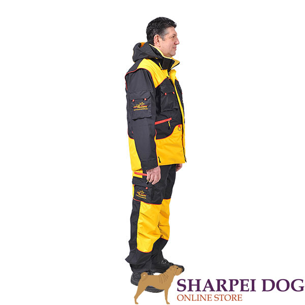 Handy Dog Training Suit with a Few Pockets