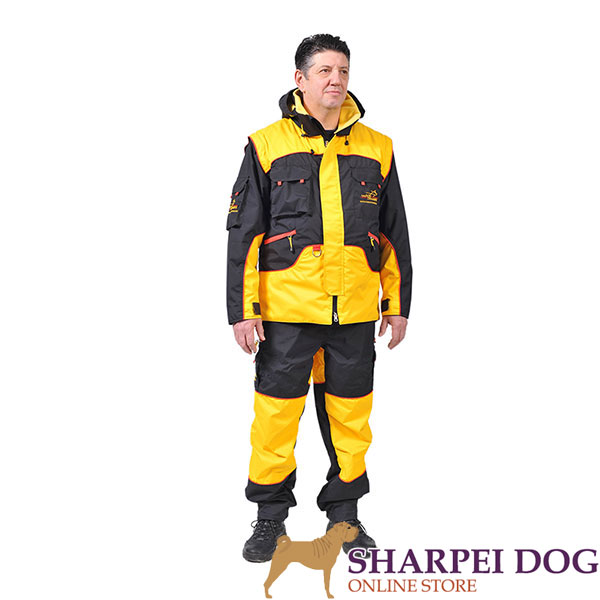 Protection Dog Training Suit of Water Resistant Membrane Material