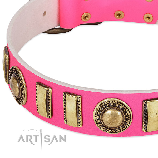 Best quality full grain leather dog collar for your lovely four-legged friend