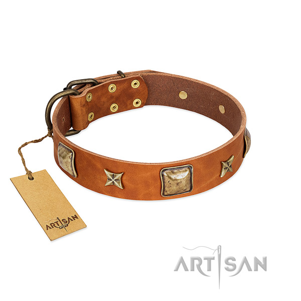 Fine quality full grain genuine leather collar for your pet