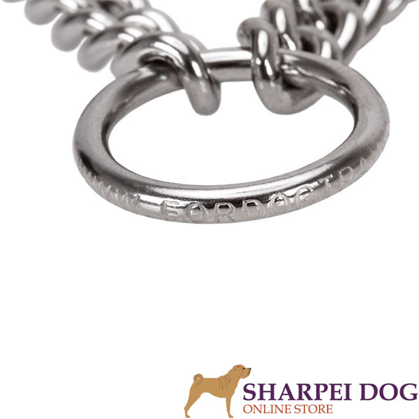 Durable dog prong collar of rust resistant stainless steel for large pets