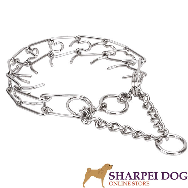 Large breeds stainless steel dog pinch collar