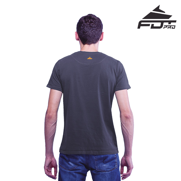 Dog Walking FDT Professional Men T-shirt Dark Grey