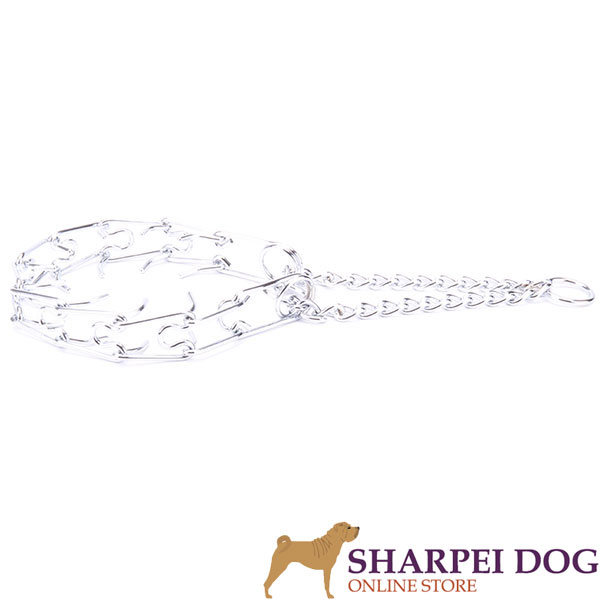 High quality chrome plated pinch collar for obedience training
