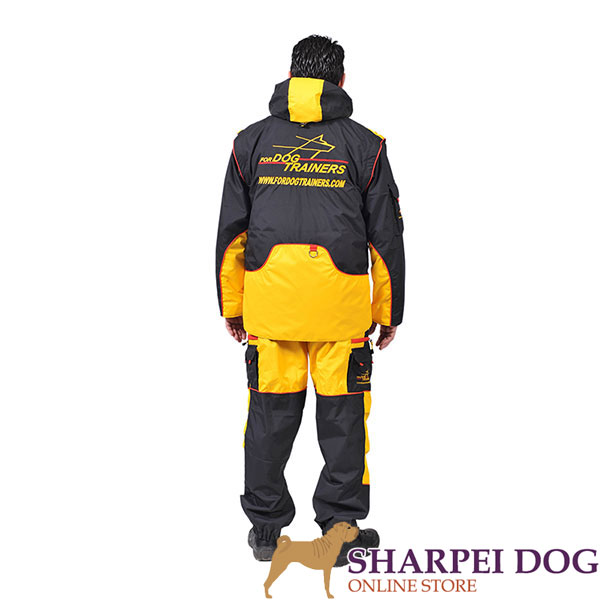Membrane Fabric Dog Training Suit with Several Pockets