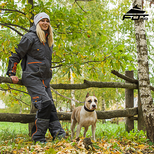 Convenient Back Pockets on Men and Women Design Pants for Active Dog Training