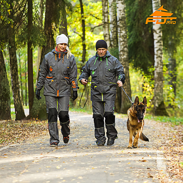 Unisex Top Rate Dog Tracking Suit for Men and Women with Reflective Strap