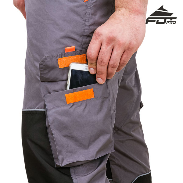 FDT Professional Design Dog Tracking Pants with Comfy Velcro Side Pocket